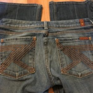 7 For All Mankind Flynt Medium Wash Jeans 27